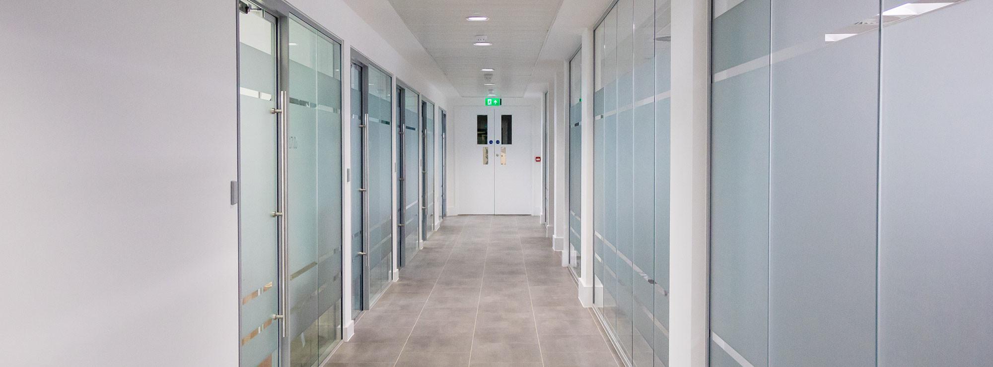 Corridor lighting and cctv