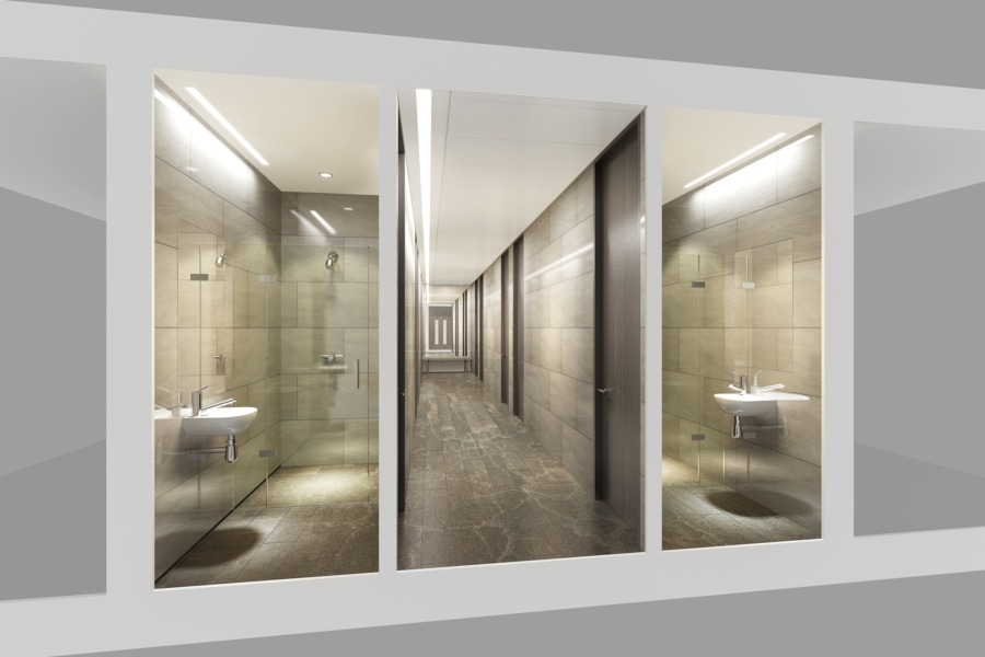 No.1 Colmore Square - 3D design washrooms