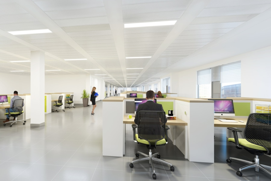 No.1 Colmore Square - 3D office design furnished