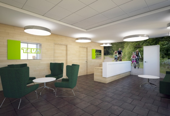 TEVA Pharmaceuticals - Reception area