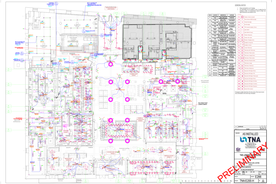 Aparthotel - CAD High level lighting plans