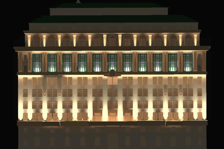 India Building - 2D Render